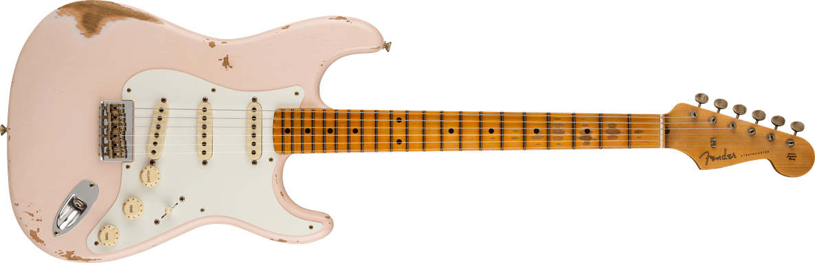 Troposphere™ Strat® Hardtail Heavy Relic®, Maple Fingerboard, Super Faded Aged Shell Pink