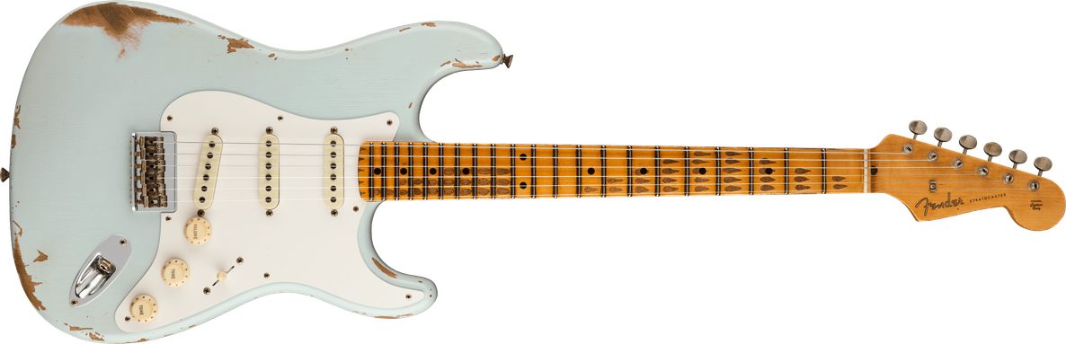Troposphere™ Strat® Hardtail Heavy Relic®, Maple Fingerboard, Super Faded Aged Sonic Blue