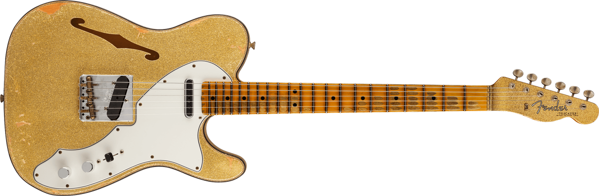 60s Custom Tele® Thinline Relic®, Maple Fingerboard, Aged Gold Sparkle