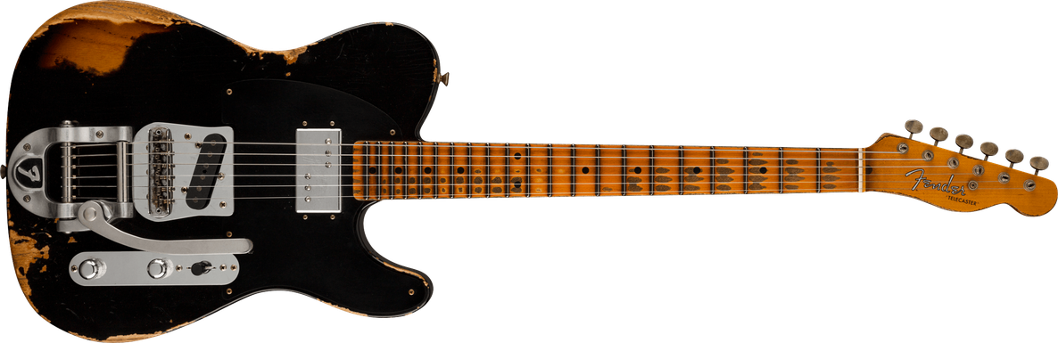 Cunife Blackguard Tele® Heavy Relic®, Maple Fingerboard, Aged Black