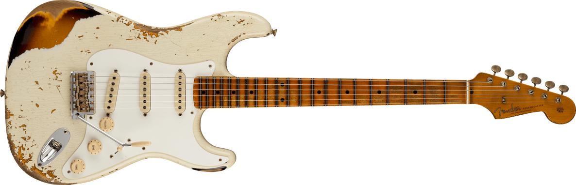 1956 Stratocaster® Heavy Relic®, Maple Fingerboard, Aged India Ivory / 2-Color Sunburst