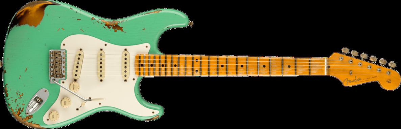 1956 Stratocaster® Heavy Relic®, Maple Fingerboard, Super Faded Aged Seafoam Green / 2-Color Sunburst