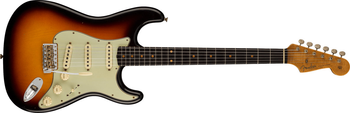 1960 Stratocaster® Journeyman Relic®, AAA Rosewood Fingerboard, Faded Aged 3-Color Sunburst