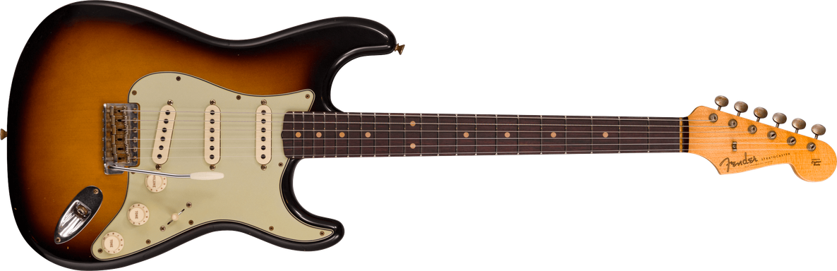 Limited Edition - 1960 Stratocaster® - Journeyman Relic®, Faded Aged 3-color Sunburst