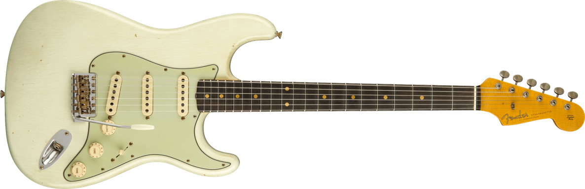 1960 Stratocaster® Journeyman Relic®, AAA Rosewood Fingerboard, Aged Olympic White
