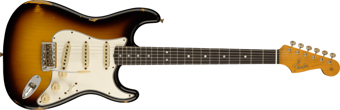 1964 Stratocaster® Relic®, AAA Rosewood Fingerboard, Faded Aged 3-Color Sunburst