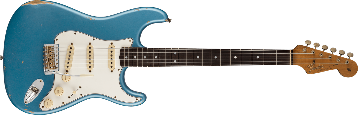 1964 Stratocaster® Relic®, AAA Rosewood Fingerboard, Aged Lake Placid Blue