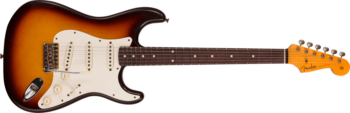 Limited Edition - 1959 Stratocaster® - Journeyman Relic®, Faded Aged Chocolate 3-color Sunburst