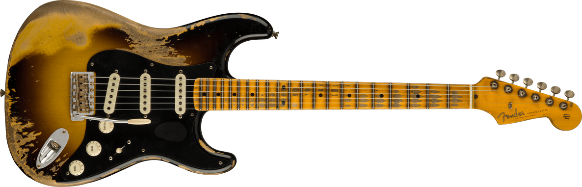 Poblano Strat® Super Heavy Relic®, Faded Aged Wide-Fade 2-Color Sunburst