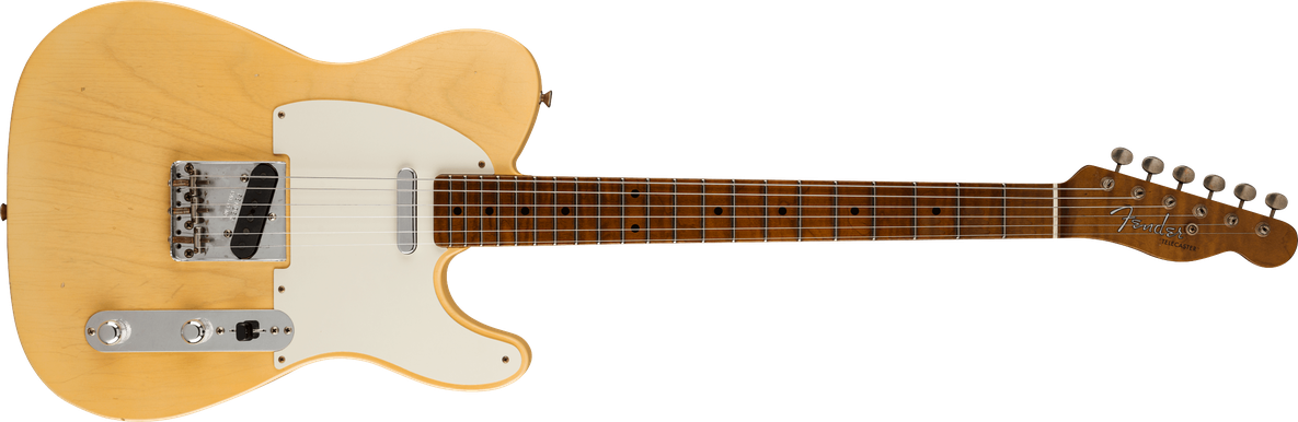 1955 Telecaster® Journeyman Relic®, AAA Roasted Flame Maple Fingerboard, Super Faded Nocaster Blonde