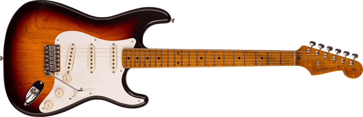 Limited Edition - 1958 Stratocaster® - Journeyman Relic® With Closet Classic Hardware, Chocolate 3-color Sunburst