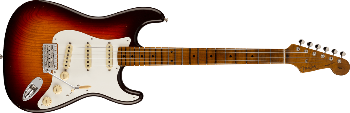 1958 Stratocaster® Journeyman Relic® Closet Classic Hardware, Maple Fingerboard, Chocolate 3-Color Sunburst