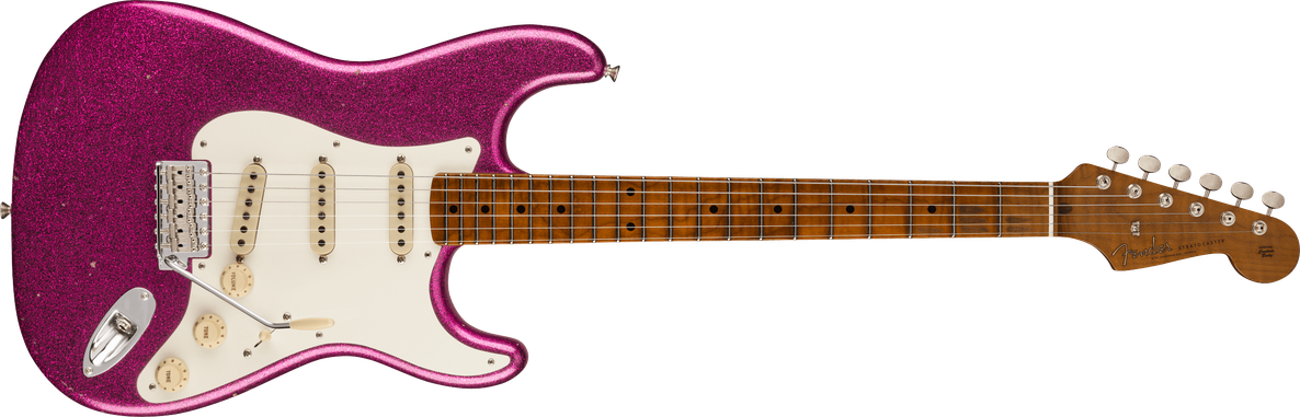 1958 Stratocaster® Journeyman Relic® Closet Classic Hardware, Maple Fingerboard, Aged Magenta Sparkle