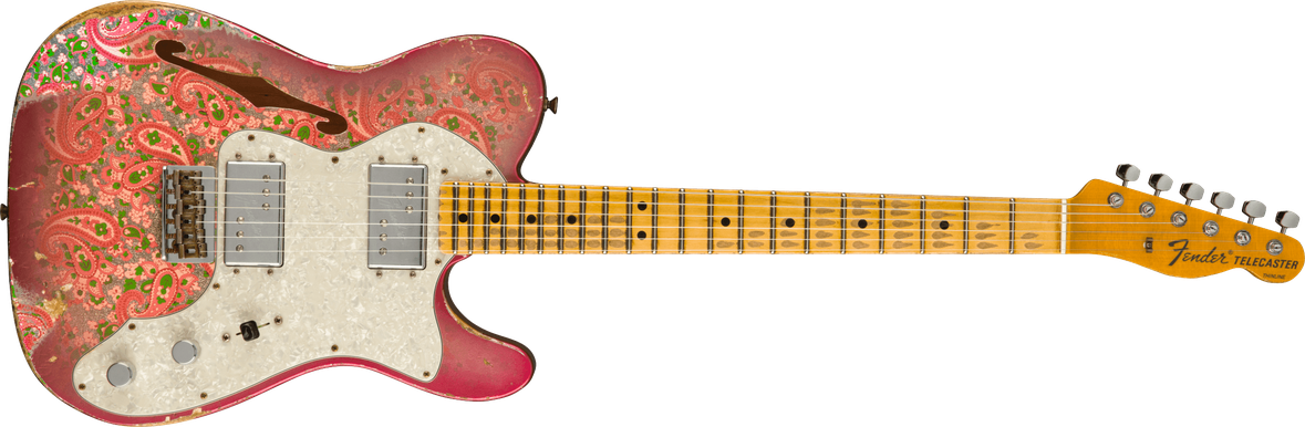 1972 Telecaster® Thinline Heavy Relic®, Maple Fingerboard, Aged Pink Paisley
