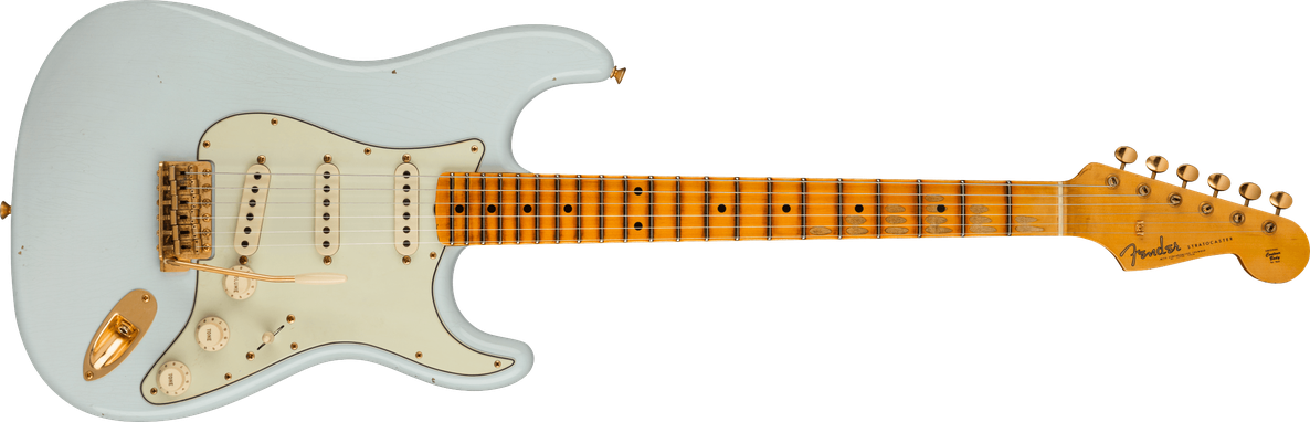 Limited Edition - Limited Edition '62 Bone Tone Stratocaster® Journeyman Relic®, Maple Fingerboard, Super Faded Aged Sonic Blue