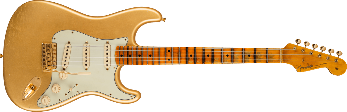 Limited Edition - Limited Edition '62 Bone Tone Stratocaster® Journeyman Relic®, Maple Fingerboard, Aged Aztec Gold