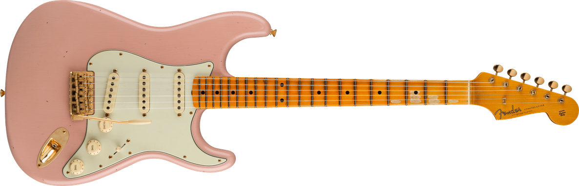Limited Edition - Limited Edition '62 Bone Tone Stratocaster® Journeyman Relic®, Maple Fingerboard, Dirty Shell Pink