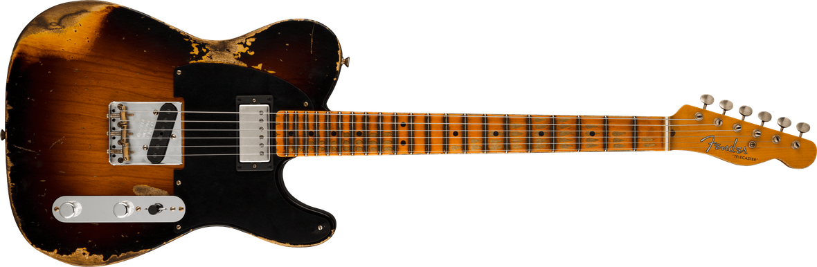Limited Edition - Limited Edition '51 HS Telecaster® Heavy Relic®, Maple Fingerboard, Wide-Fade 2-Color Sunburst