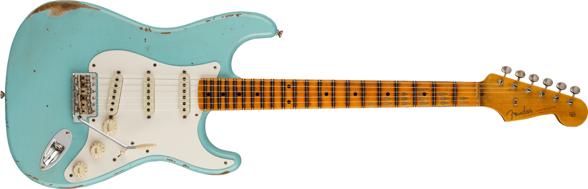 1957 Stratocaster® Relic®, Maple Fingerboard, Faded Aged Daphne Blue