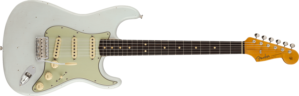 1963 Stratocaster® Journeyman Relic® with Closet Classic Hardware, Rosewood Fingerboard, Super Faded Aged Sonic Blue