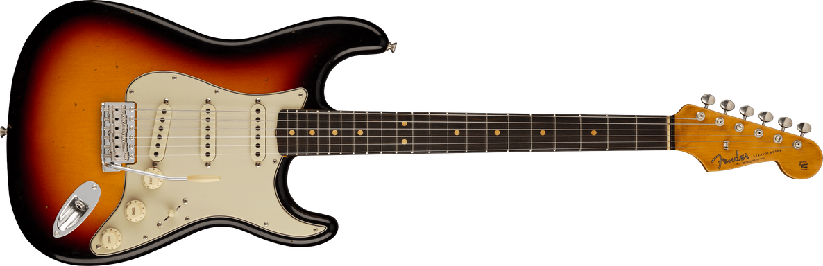 1963 Stratocaster® Journeyman Relic® with Closet Classic Hardware, Rosewood Fingerboard, 3-Color Sunburst