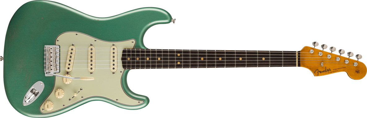 1963 Stratocaster® Journeyman Relic® w/ Closet Classic Hardware, Rosewood Fingerboard, Faded Aged Sherwood Green Metallic