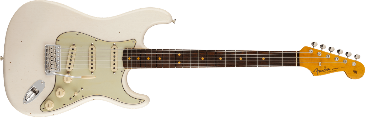 1963 Stratocaster® Journeyman Relic® with Closet Classic Hardware, Rosewood Fingerboard, Aged Olympic White