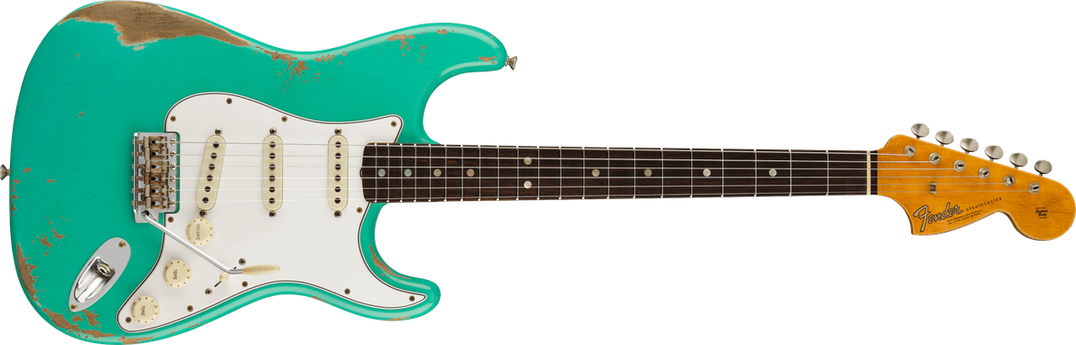 '67 Stratocaster® Heavy Relic®, Rosewood Fingerboard, Aged Seafoam Green