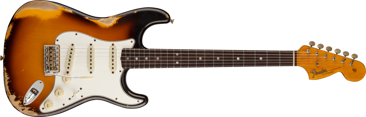 '67 Stratocaster® Heavy Relic®, Rosewood Fingerboard, Faded Aged 3-Color Sunburst