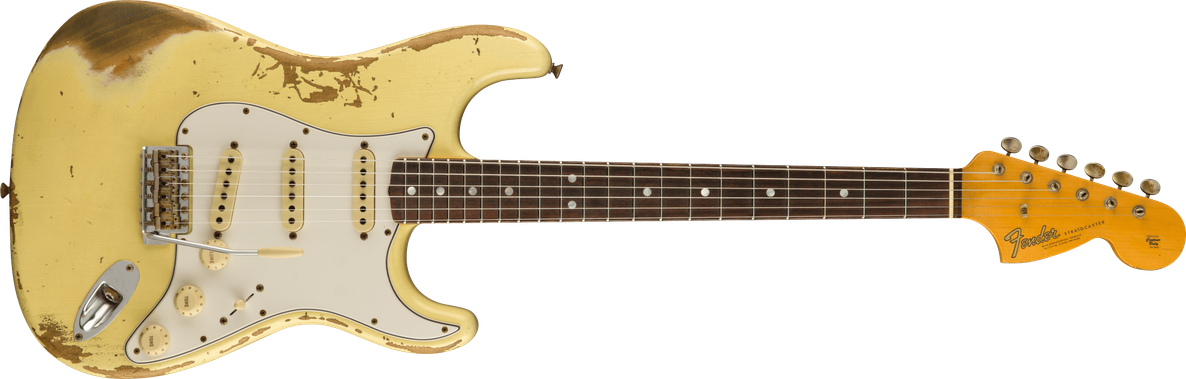 1967 Stratocaster® Heavy Relic®, Rosewood Fingerboard, Aged Vintage White