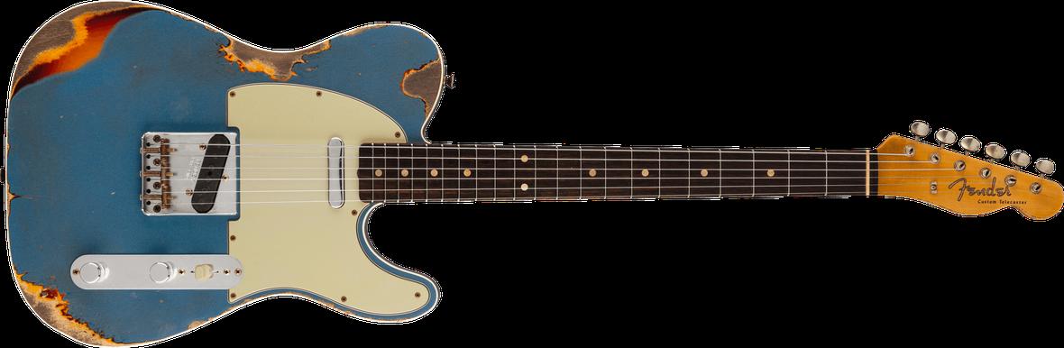 1960 Telecaster® Custom Relic®, Rosewood Fingerboard, Aged Lake Placid Blue over Chocolate 3-Color Sunburst