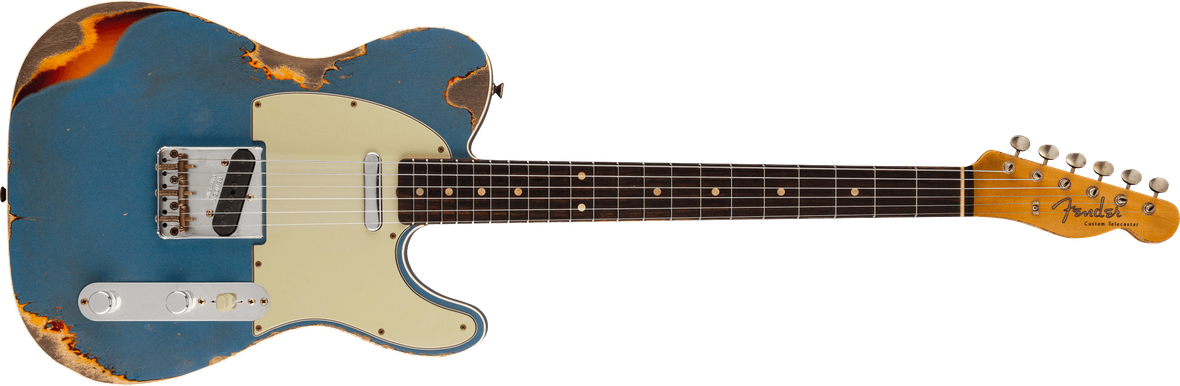 1960 Telecaster® Custom Relic®, Rosewood Fingerboard, Aged Lake Placid Blue over Chocolate 3-Color Sunburst