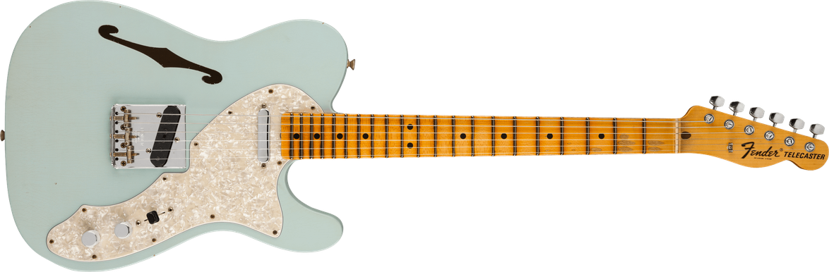 1969 Telecaster® Thinline, Journeyman Relic®, Maple Fingerboard, Aged Sonic Blue