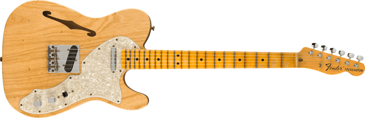 1969 Telecaster® Thinline Journeyman Relic®, Maple Fingerboard, Aged Natural