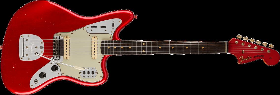 '63 Jaguar® Journeyman Relic®, Rosewood Fingerboard, Aged Candy Apple Red