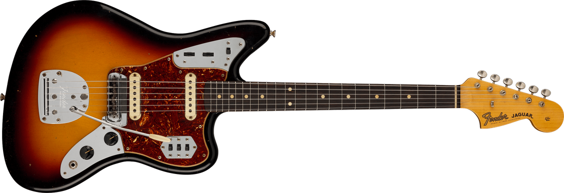 '63 Jaguar® Journeyman Relic®, Rosewood Fingerboard, 3-Color Sunburst