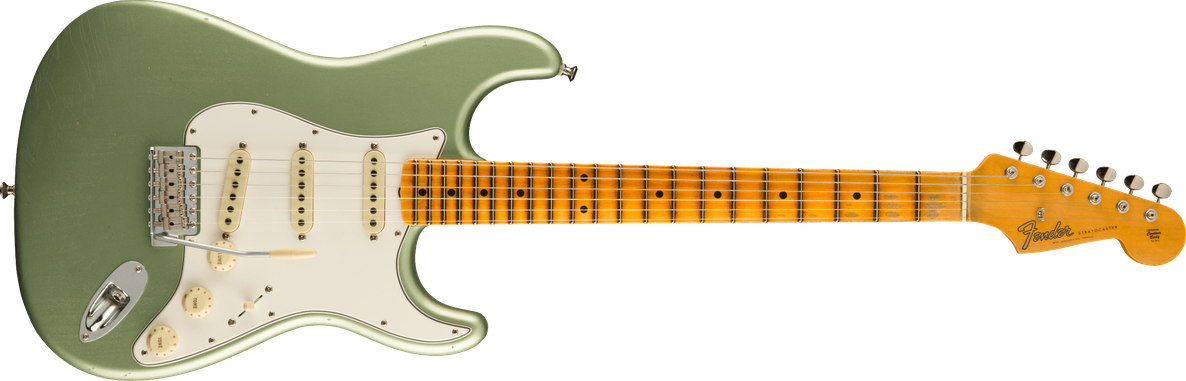 Postmodern Stratocaster® Journeyman Relic® with Closet Classic Hardware, Maple Fingerboard, Faded Aged Sage Green Metallic