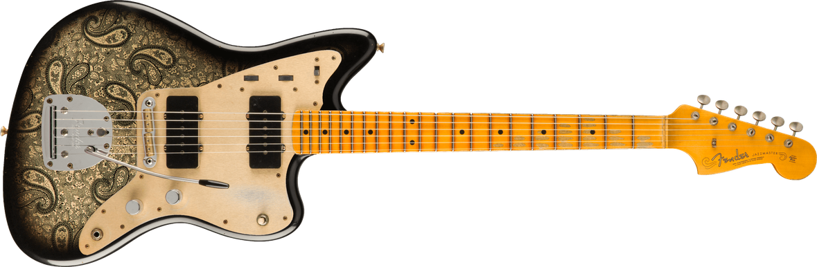 Limited Edition - Limited Edition Custom Jazzmaster® Relic®, Maple Fingerboard, Aged Black Paisley