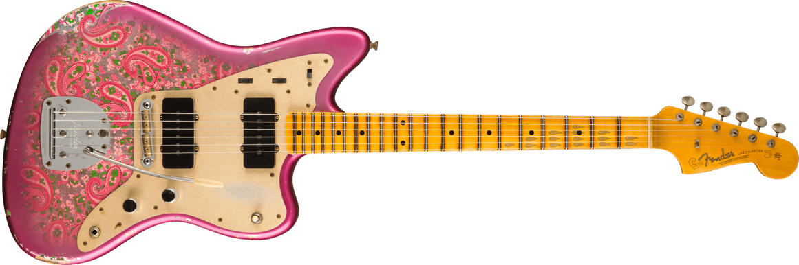 Limited Edition - Limited Edition Custom Jazzmaster® Relic®, Maple Fingerboard, Aged Pink Paisley