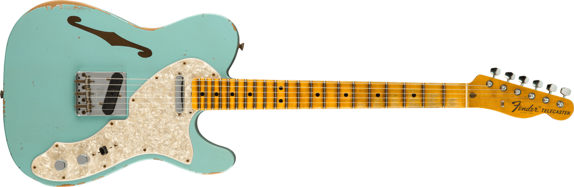 Limited Edition - Limited Edition '69 Telecaster® Thinline Relic®, Maple Fingerboard, Aged Daphne Blue