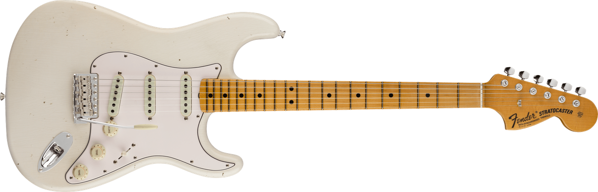 Limited Edition - Limited Edition '69 Stratocaster® Journeyman Relic® with Closet Classic Hardware, Maple Fingerboard, Aged Olympic White
