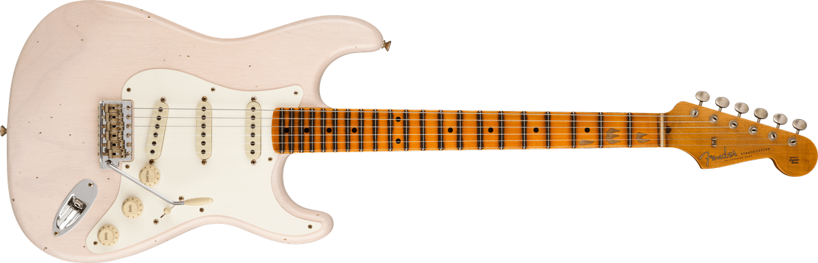 Limited Edition - Limited Edition '57 Stratocaster® Journeyman Relic®, Maple Fingerboard, Aged White Blonde