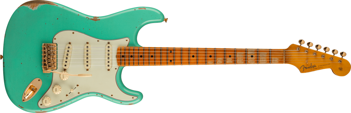 Limited Edition - Limited Edition '62 Bone Tone Stratocaster® Relic®, Maple Fingerboard, Faded Aged Sea Foam Green