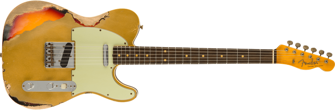 Limited Edition - Limited Edition '60 Telecaster® Custom Heavy Relic®, Rosewood Fingerboard, Aged Aztec Gold over 3-Color Sunburst