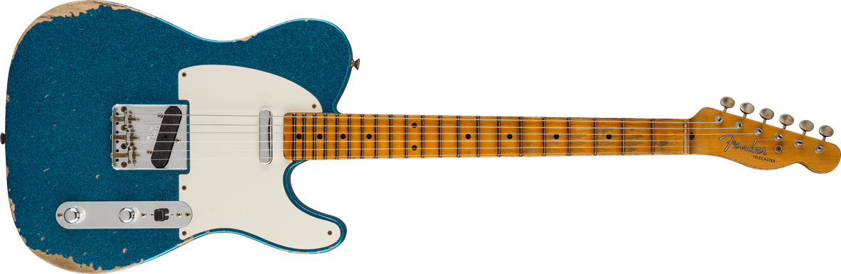 Limited Edition - Limited Edition '55 Telecaster® Relic®, Maple Fingerboard, Aged Blue Sparkle