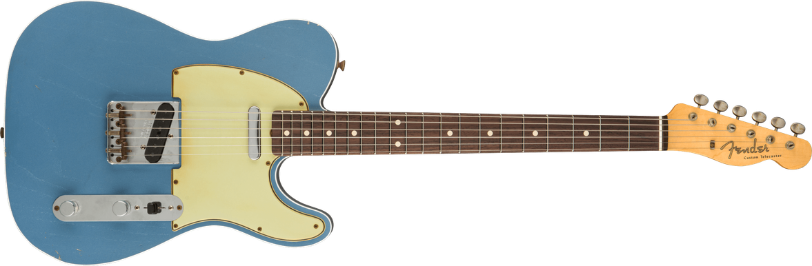 2021 Chris Fleming Masterbuilt '60 Telecaster® Custom Journeyman Relic®, Rosewood Fingerboard, Faded Lake Placid Blue