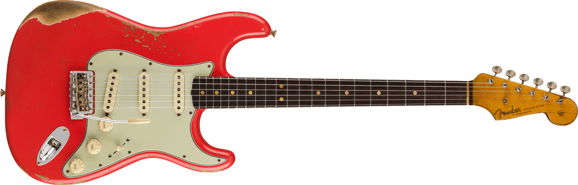 Limited Edition - Limited Edition '63 Stratocaster® Heavy Relic®, Rosewood Fingerboard, Aged Fiesta Red