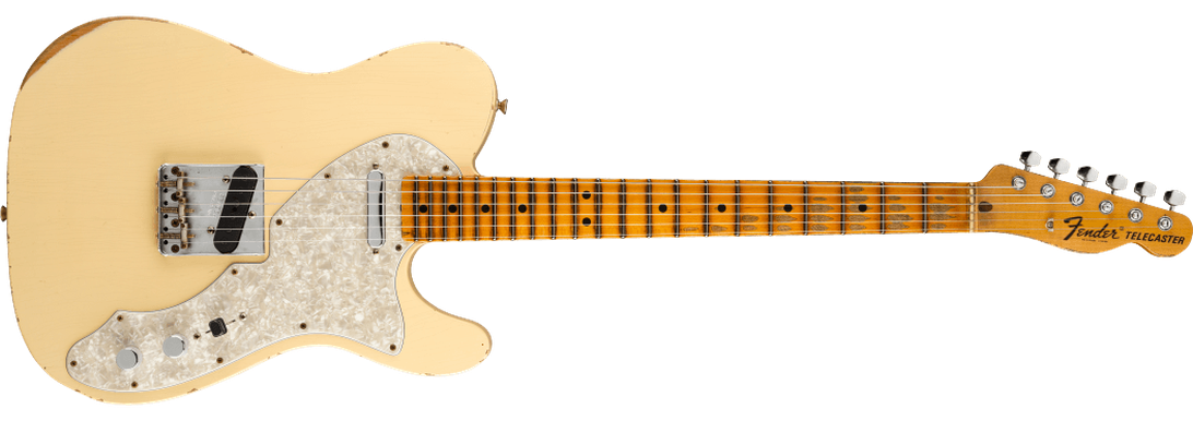 Limited Edition - Limited Edition '69 Chambered Telecaster® Relic®, Maple Fingerboard, Aged Vintage White