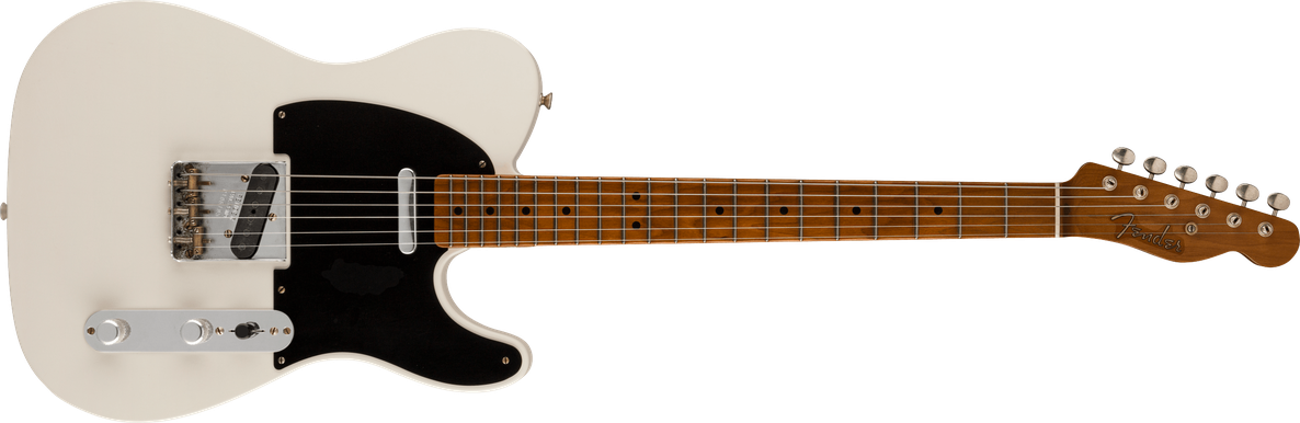 2021 Todd Krause Masterbuilt Nocaster® Relic®, Maple Fingerboard, Faded Olympic White