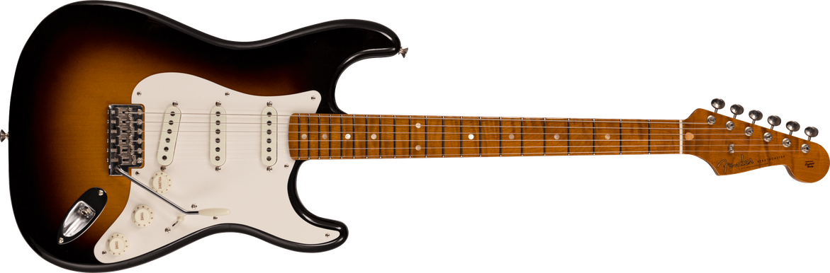 Limited Edition - Roasted Pine Stratocaster® - DLX Closet Classic, Wide-fade Chocolate 2-Color Sunburst